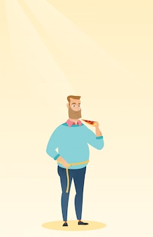 Homem, medindo, cintura