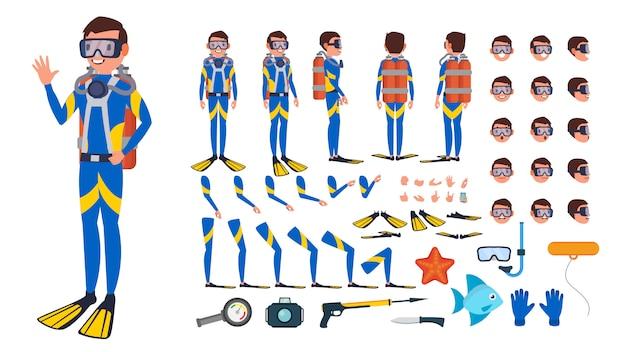 Homem mergulhador