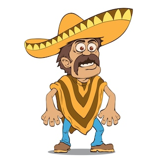 Homem mexicano no sombrero