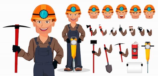 Homem mineiro, trabalhador de mineração