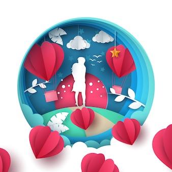 Homem mulher, amor, ilustração