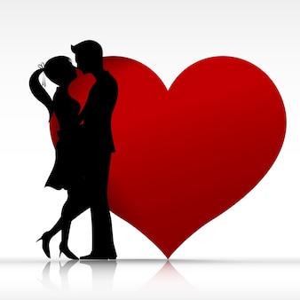 Homem mulher, par, beijando