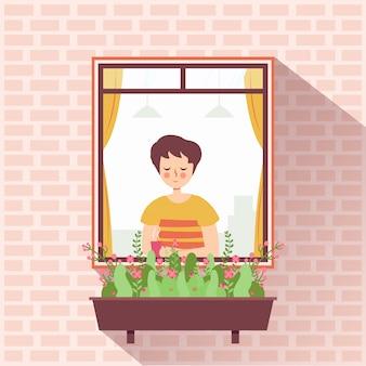Homem na janela