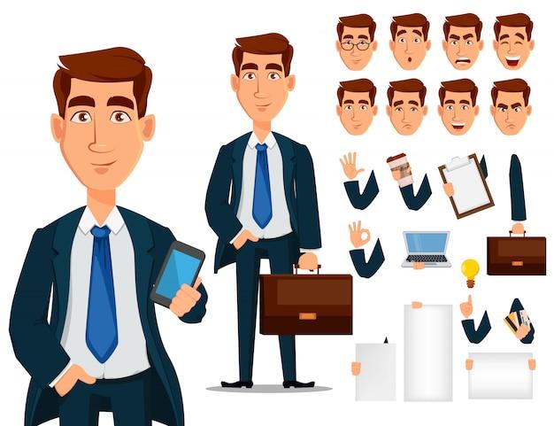 Homem negócio, formal, paleto