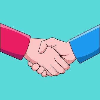 Homem negócios, apertando mão