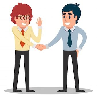 Homem negócios, apertar mão