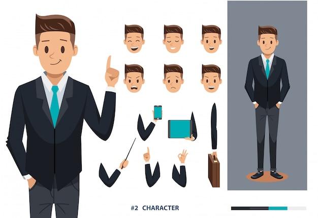 Homem negócios, desenho pessoal