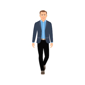 Homem negócios, em, roupa casual