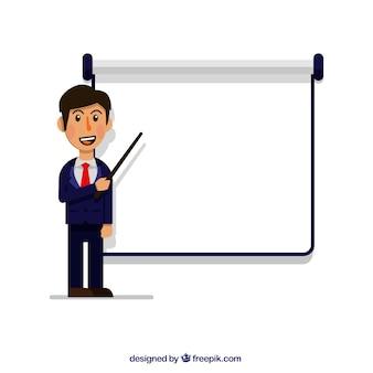 Homem negócios, explicar, reunião