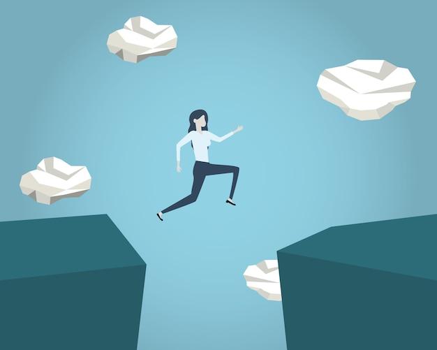 Homem negócios, pular
