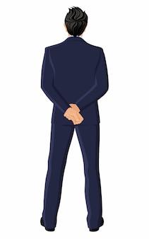 Homem negócios, vista traseira