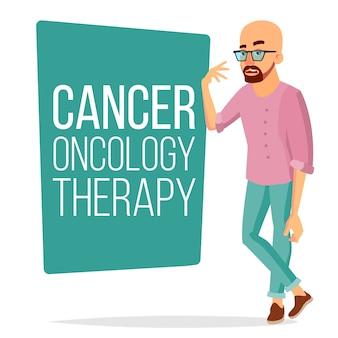 Homem paciente de quimioterapia