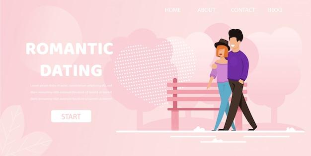 Homem, passeio, com, mulher, rua ao ar livre, romanticos, namorando