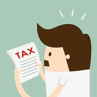 Homem que lê o imposto
