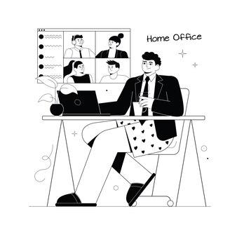 Homem sentado de paletó e cueca cara trabalhando remotamente em cuecas escritório em casa trabalhando em casa