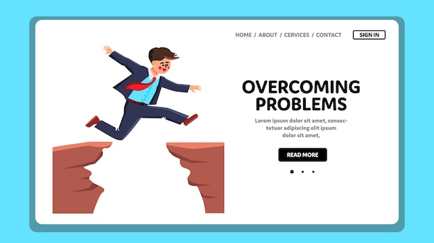 Homem superando problemas e dificuldades