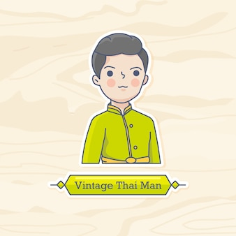 Homem tailandês vintage