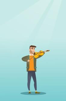 Homem, tocando violino