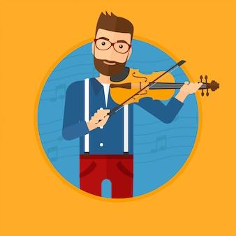 Homem tocando violino.