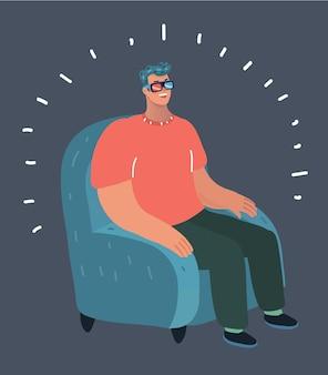 Homem usando óculos e camiseta