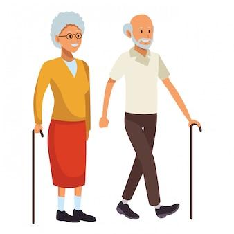 Homem velho e mulher