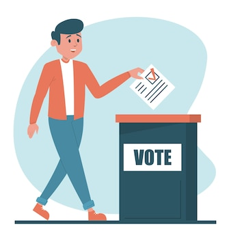 Homem votando para ilustração de presidente