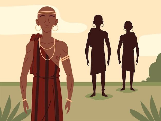 Homens africanos aborígenes