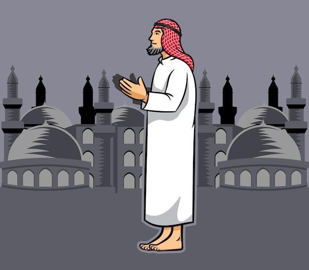 Homens árabes rezando