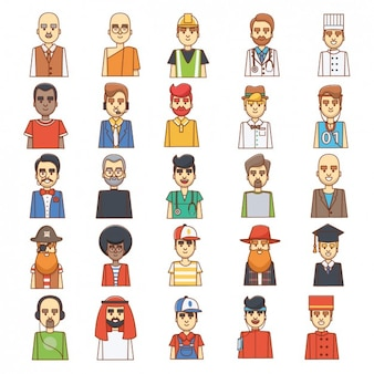 Homens coloridos avatares projeto