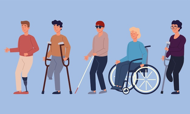 Homens com deficiência