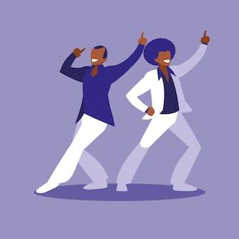 Homens dançando personagem avatar
