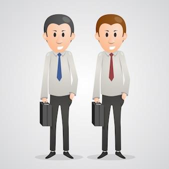 Homens de escritório arte pessoas de negócios. ilustração vetorial