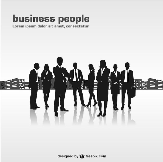 Homens de negócios silhuetas vetor