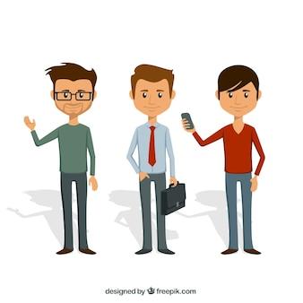 Homens ilustração