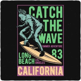 Homens na prancha de surf