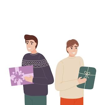 Homens querem dar presentes