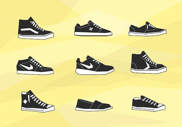 Homens sapatos ícones