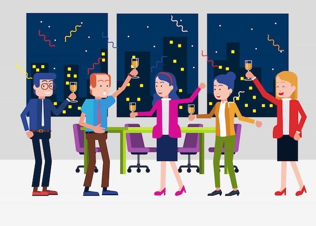 Hora da festa no escritório
