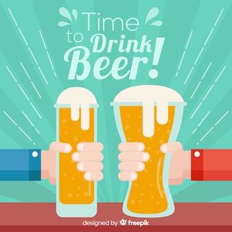 Hora de beber cerveja