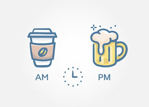 Hora de beber conceito