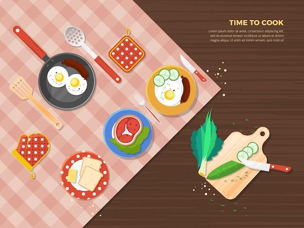 Hora de cozinhar o cartaz