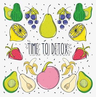 Hora de desintoxicar cartoons de frutas