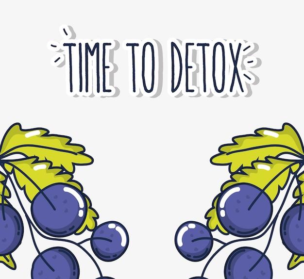Hora de desintoxicar deliciosos frutos de uvas