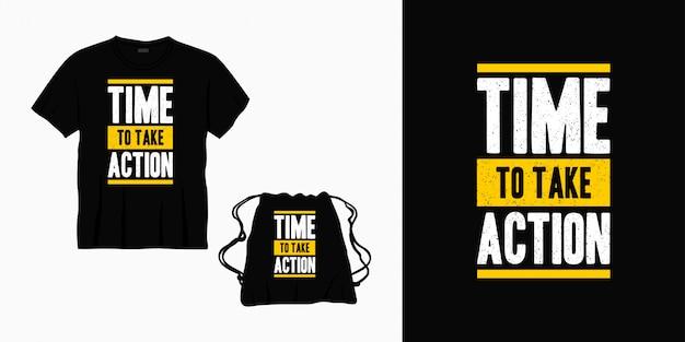 Hora de tomar medidas tipografia letras de design para t-shirt, bolsa ou mercadoria