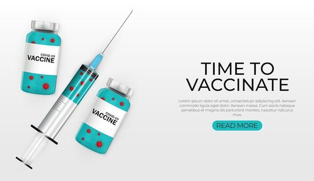 Hora de vacinar. vacinação contra o coronavírus.