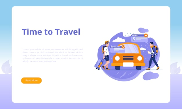 Hora de viajar para modelos de página de destino de viagens de negócios