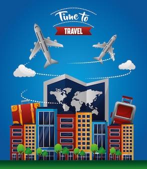 Hora de viajar pelo mundo