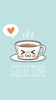Hora do café kawaii