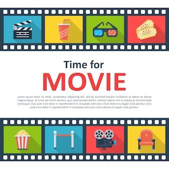 Hora do cartaz de filme copyspace
