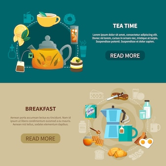 Hora do chá e café da manhã